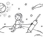 Elf auf dem Mond